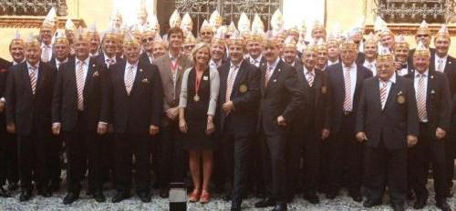 Gruppenfoto bei der Corps à la suite Tour 2012 in Mailand