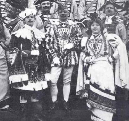 Das Kölner Dreigestirn 1908